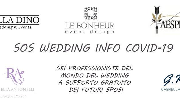 NASCE IL TEAM DI EMERGENZA SOS WEDDING INFO COVID-19