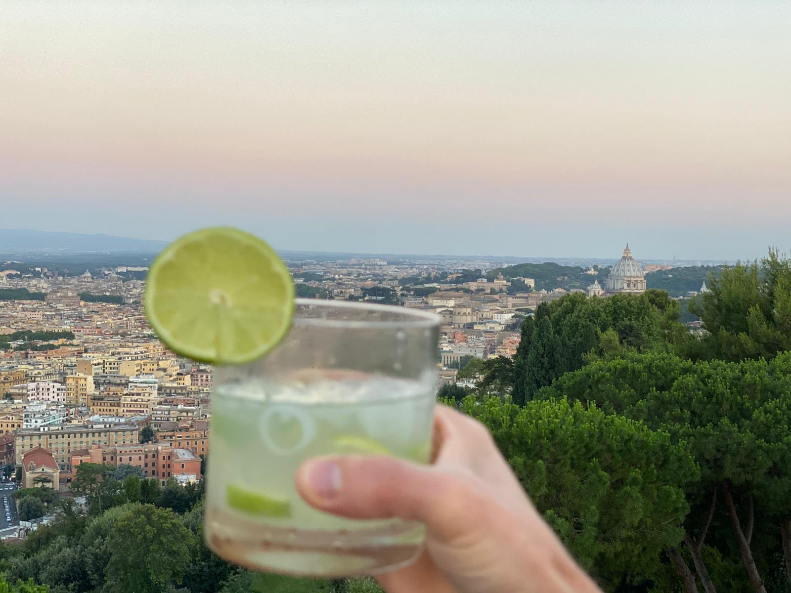 Vista 101 cocktail con panorama