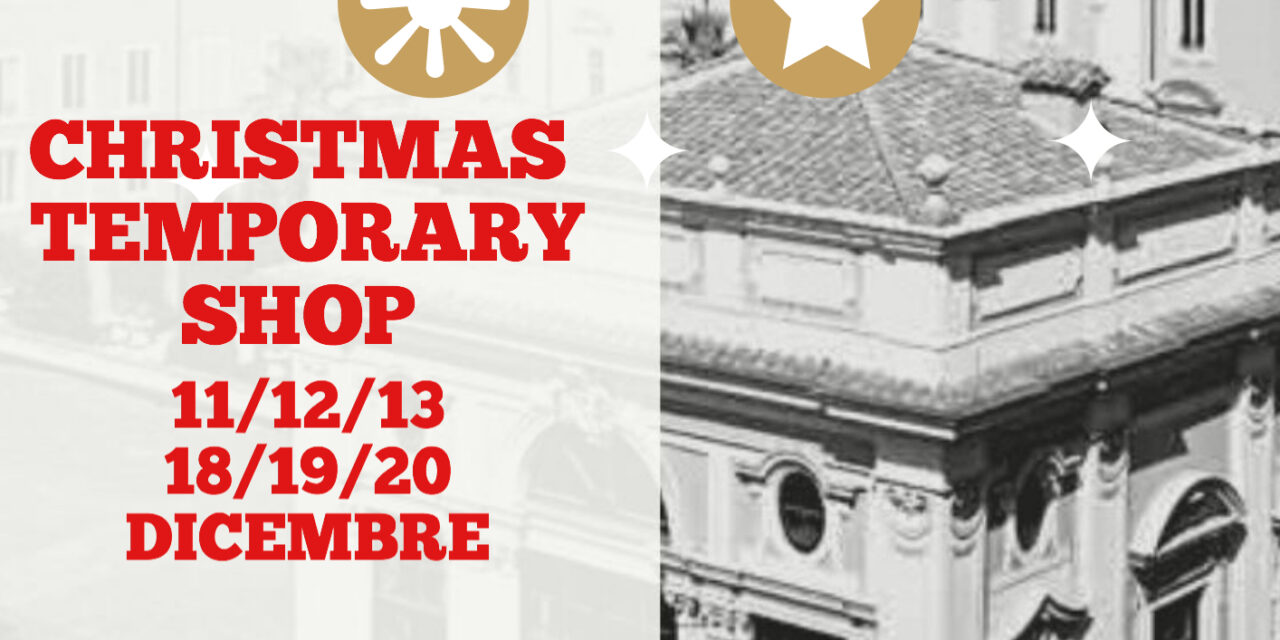 CHRISTMAS TEMPORARY SHOP NELLA COFFEE HOUSE DI PALAZZO COLONNA
